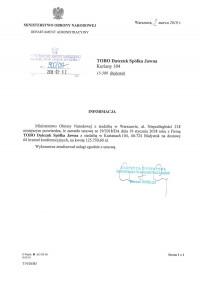 Ministerstwo Obrony Narodowej w Warszawie
