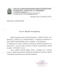 Zakład Gospodarowania Nieruchomosciami w Warszawie