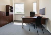 Meble biurowe TOBO: biurko na stelażu metalowym, szafy biurowe, krzesła biurowe