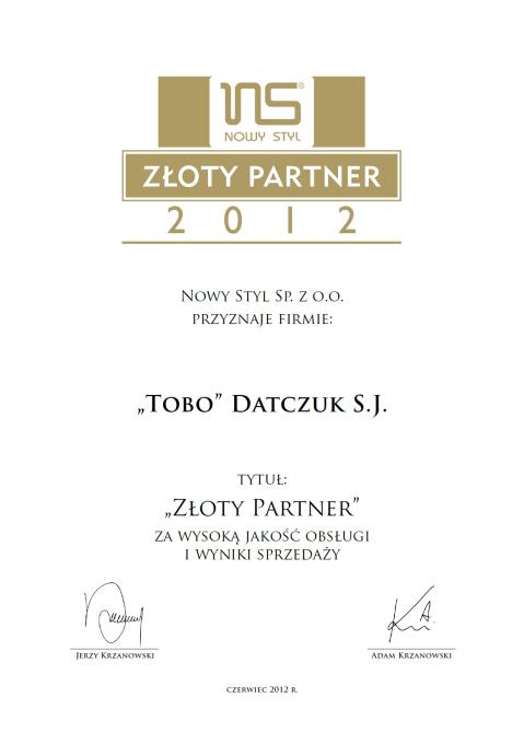 złoty partner 2012 zmniejszone.png